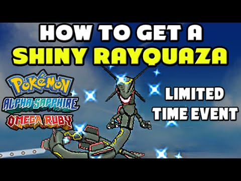 How to Get a Shiny Rayquaza - Pokemon Omega Ruby And Alpha Sapphire -  Limited Time Event