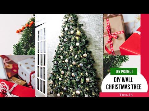 DIY Wall Christmas Tree - Holiday Decor Ideas