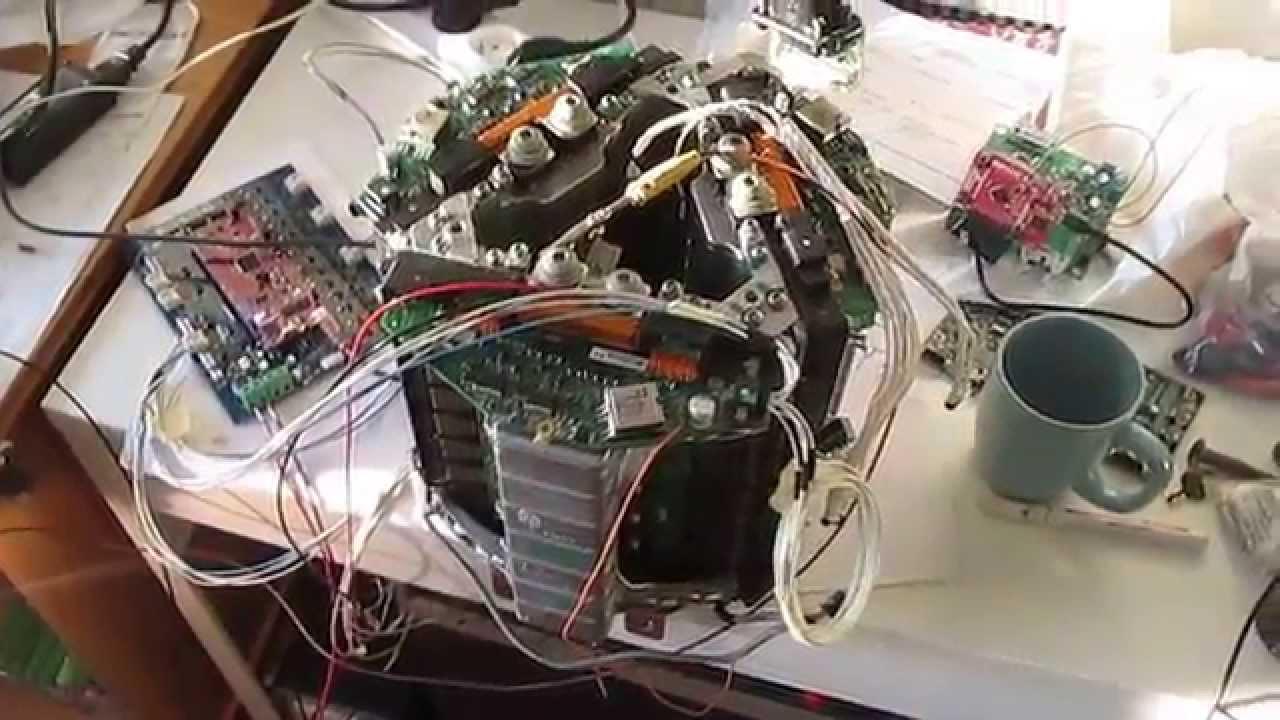 First hack of the Tesla Model S inverter  lightbulb test
