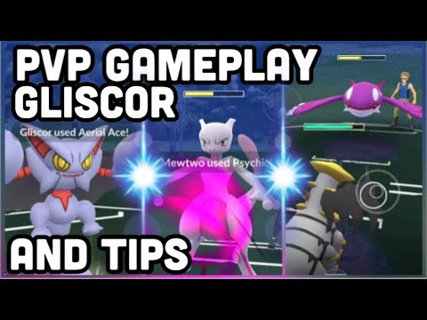 GLISCOR PVP GAMEPLAY & TIPS POKEMON GO | BAITING & SAVING CHARGE MOVES thumbnail