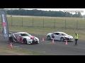 DRAGRACE | Audi R8 Prior Design GT650 vs. Corvette C7 vs. Nissan GT-R vs. Dodge Challenger Hellcat