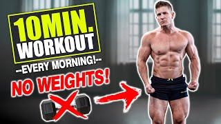 """10 MIN AT HOME """"FULL BODY"""" WORKOUT! (NO EQUIPMENT NEEDED!)"""