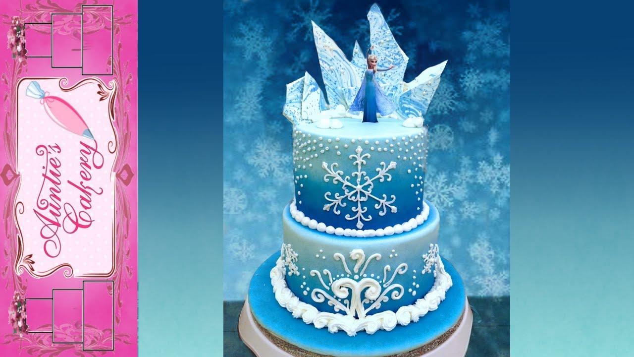 Disney S Frozen Cake Auntie S Style Youtube