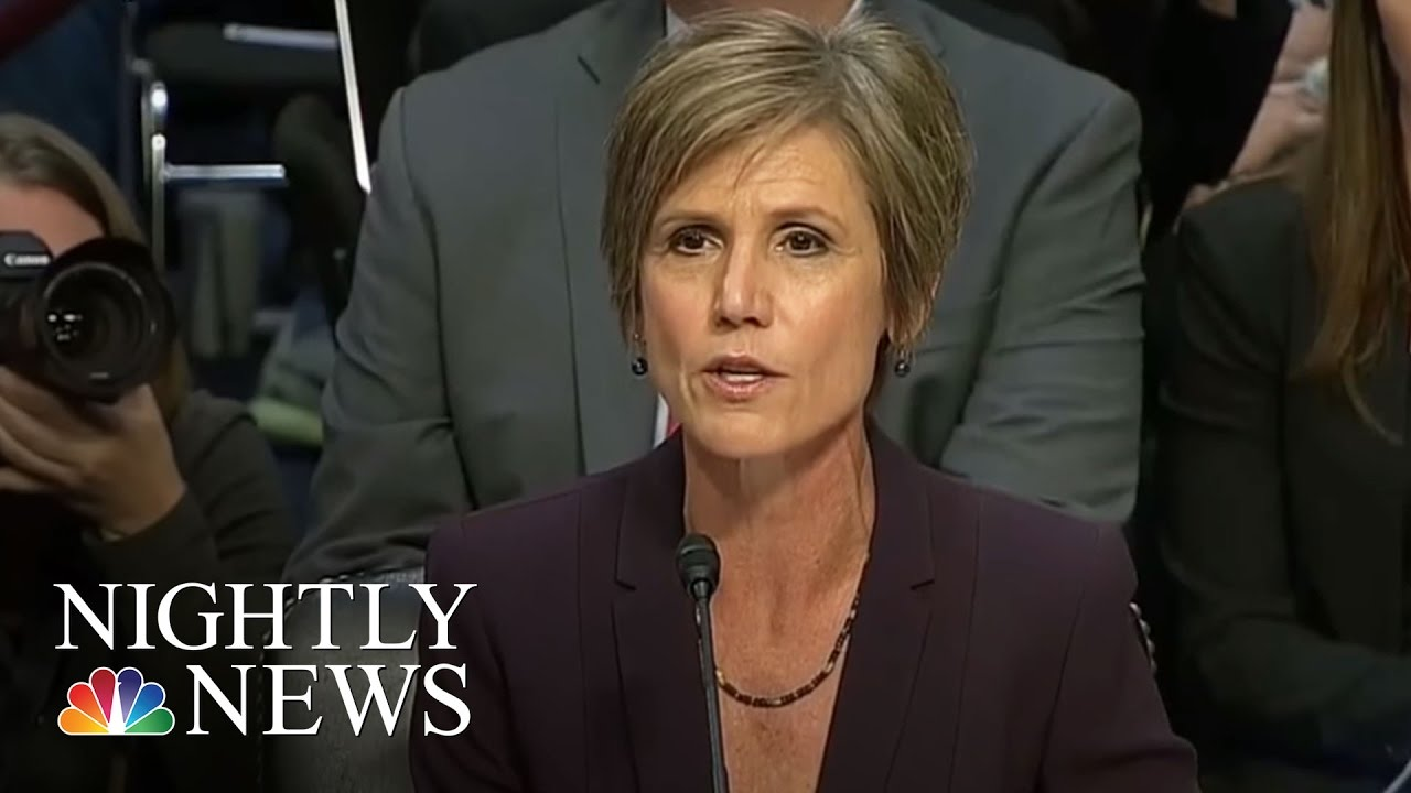 Sally Yates, Under Attack by Republicans, Defends Flynn Investigation