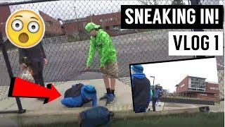 SNEAKING INTO A HIGH SCHOOL TO PLAY FOOTBALL?! - Vlog 1 -