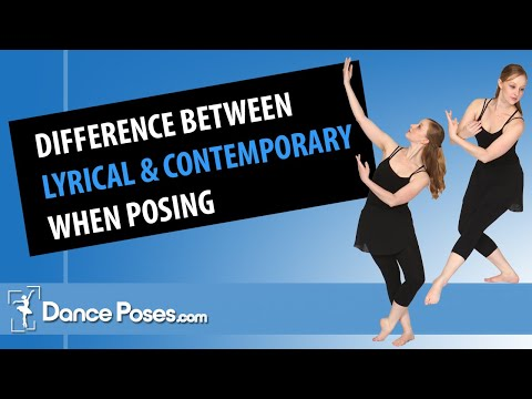 Difference between Lyrical Contemporary When Posing For Dance Pictures