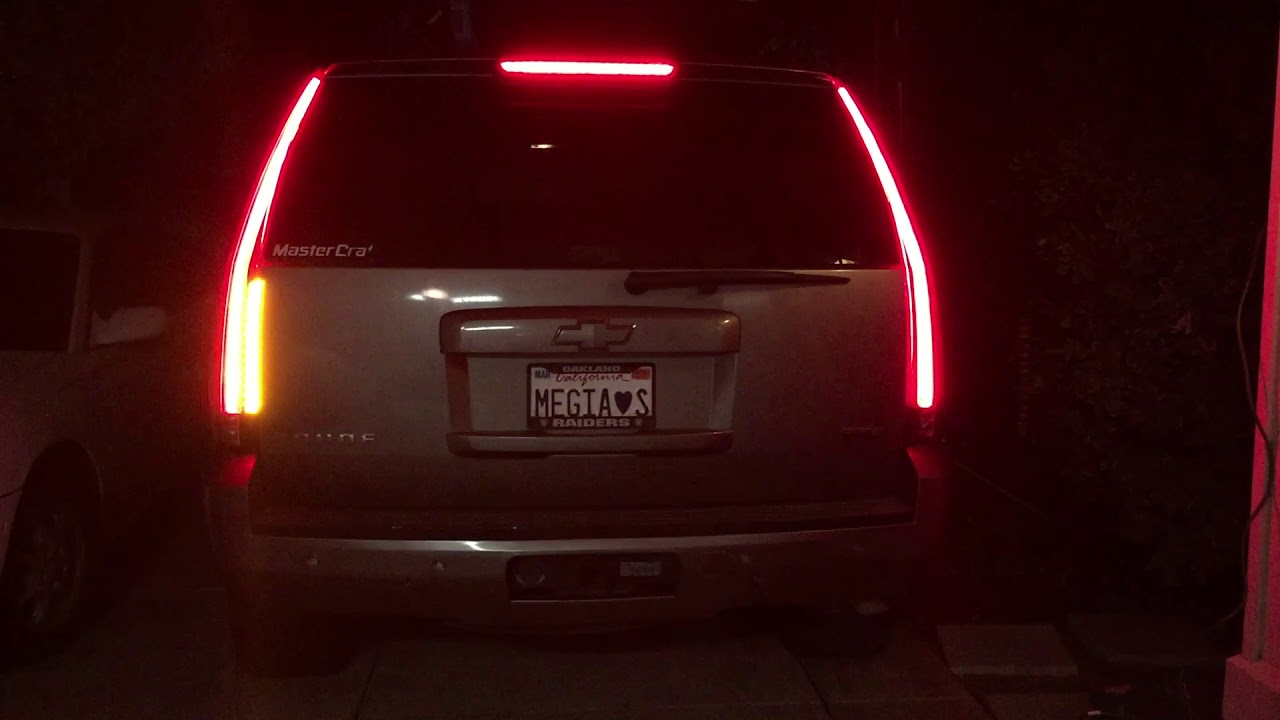 2007 Tahoe With 2015 Escalade Tail Lights Youtube