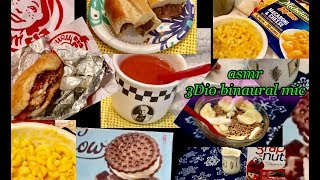 60 Minutes Quiet ASMR 🎧 Relaxing Lunch Compilation, 3Dio Binaural Mic,