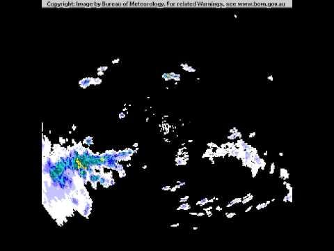 Brisbane Storm Radar Images 17th November 2012