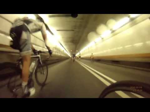 """Bike MS NYC 2013 - The """"flight"""" through the holland tunnel"""