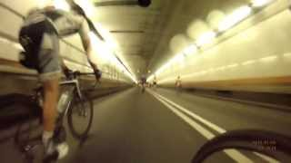 "Bike MS NYC 2013 - The ""flight"" through the holland tunnel"