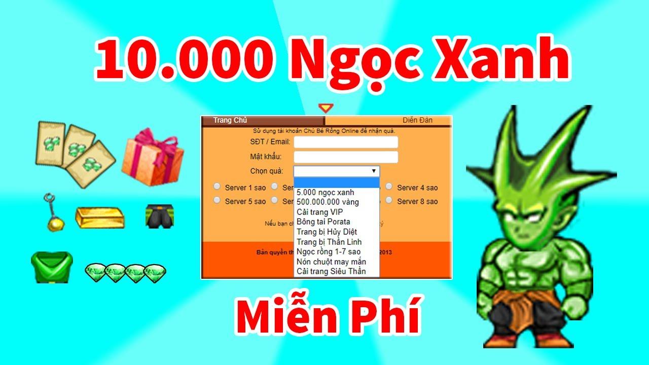 Ngọc Rồng Online – Nhận 2 Tỉ Vàng Và 10K Ngọc Xanh Miễn Phí !