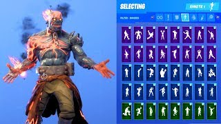 THE PRISONER STAGE 4 SKIN SHOWCASE WITH ALL FORTNITE DANCES & EMOTES