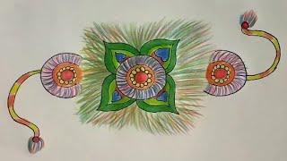 How to make Rakhi Drawing Ideas Step By Step | Indian Festival RakshaBandhan Drawing For Kids | Art