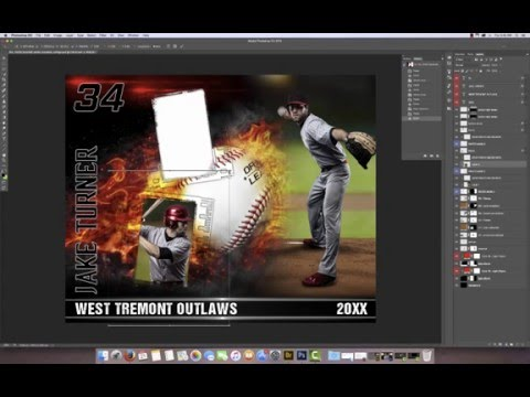 sports photo collage template on fire series youtube