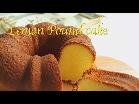 [Eng Sub] Lemon velvet pound cake. Moist and soft/ レモン·ポンド·ケーキ