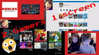 ROBLOX! Kidtube Kai and Sis are gaming together ALL ON 1 SCREEN!