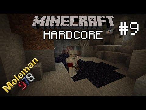 Let's Play Hardcore Minecraft #9 | Diggin' Around the Lava