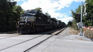 NS Intermodal Train At Shenandoah Junction Rd In Shenandoah Junction, WV 8-5-17