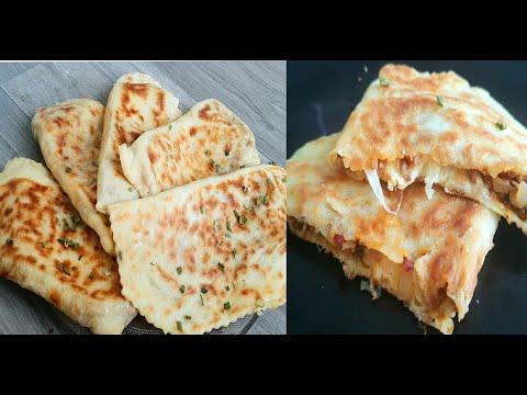 crêpe-turc-gölzeme-farcie-à-la-viande-hachée-😋بان-كيك-تركي-،-بان-كيك-جولزيم-محشي-باللحم-المفروم