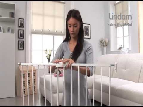 Lindam Lindam Extending Metal Stair Gate - How To Use and how to Insall Video | Babysecurity