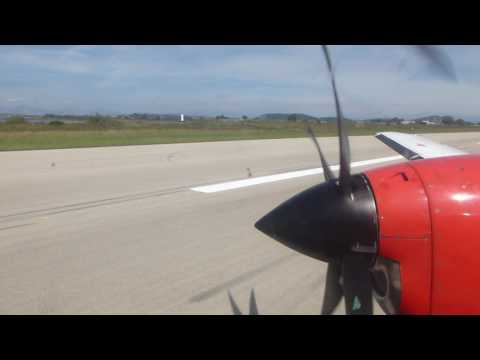Landing at Preveza in a Sky Express Jetstream 41