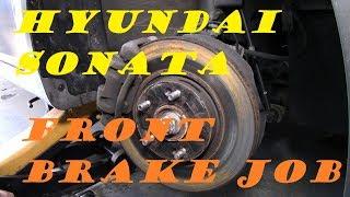 Hyundai Sonata Front Brake Job Part 1