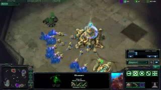[HD] Starcraft 2 Beta Gameplay/Commentary 2v2 PZvPP Arid Waste PT1/2