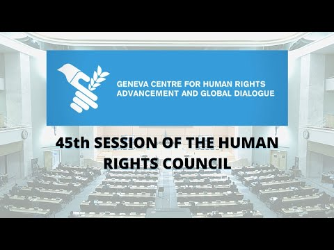Highlights of the 45th session of the Human Rights Council - Geneva Centre video