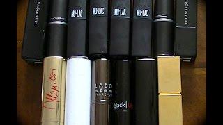 Mulac lipsticks Wacky: i miei ed i loro vagamente simili.
