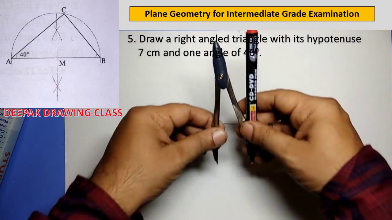 5 Construct a right angled triangle - Intermediate Plane