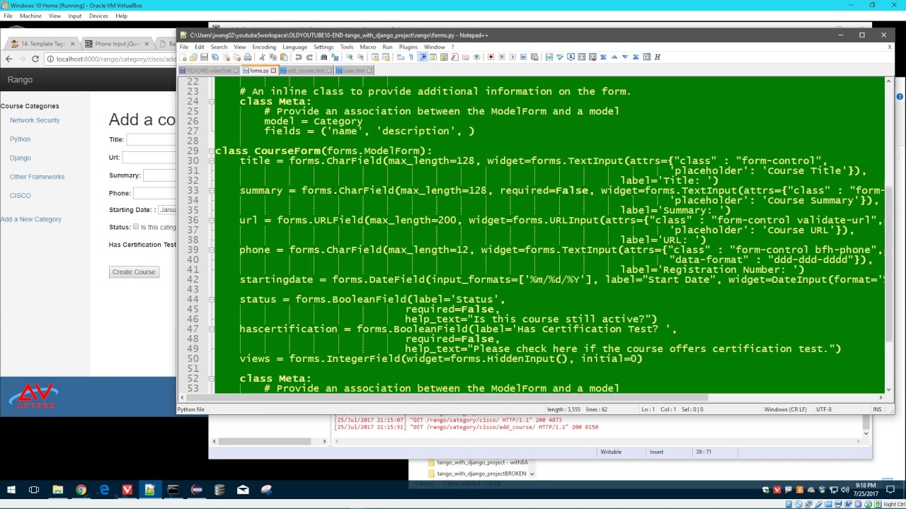 Pythondjango development 11 of 12 adding jquery bootstrap plugin pythondjango development 11 of 12 adding jquery bootstrap plugin into django form falaconquin