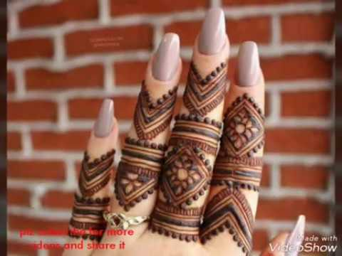 Mehndi Designs Latest New Style : Latest finger mehndi designs new styles for hands mehindi