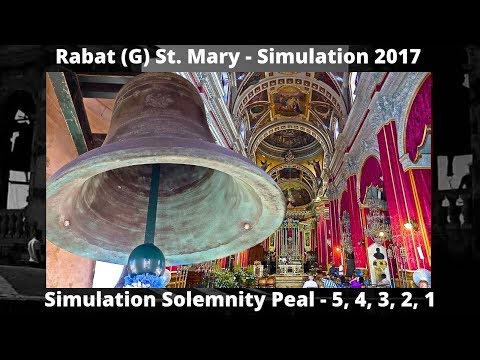 Rabat (G) St. Mary - Simulation Peal (2017) 5,4,3,2,1 - 5 Bells / 2