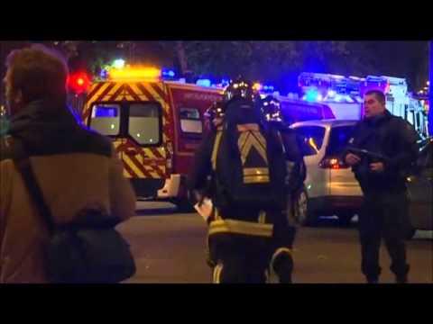 Police at scene of Paris attack