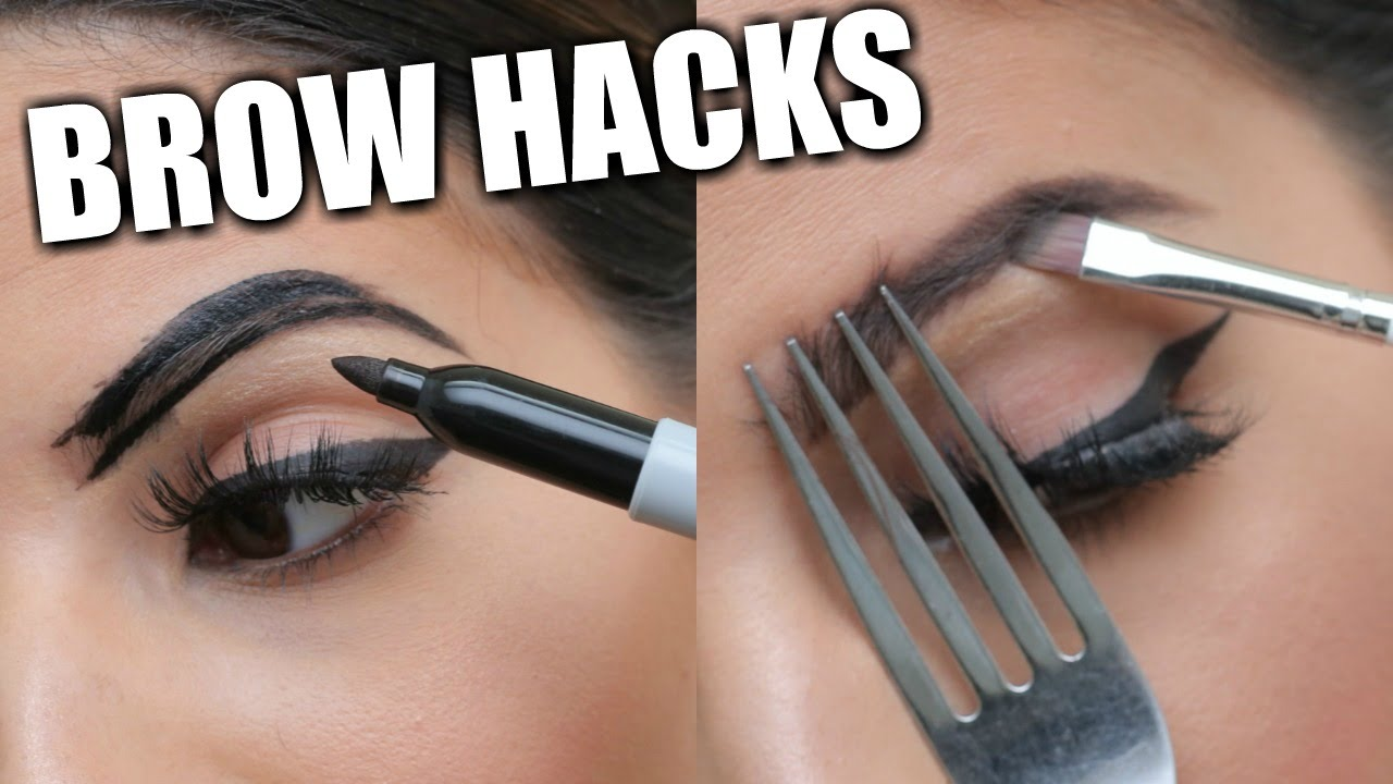 52bb3972370 EYEBROW HACKS That Everyone Should Know! - YouTube