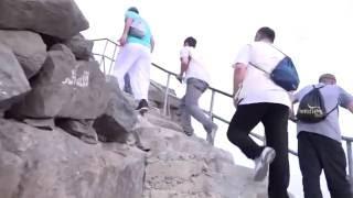 Hacı adaylarının Nur Dağı'nda zorlu Hira yolculuğu