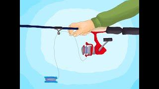 Как правильно намотать шнур или леску на безинерционную катушку Бекинг подмотка