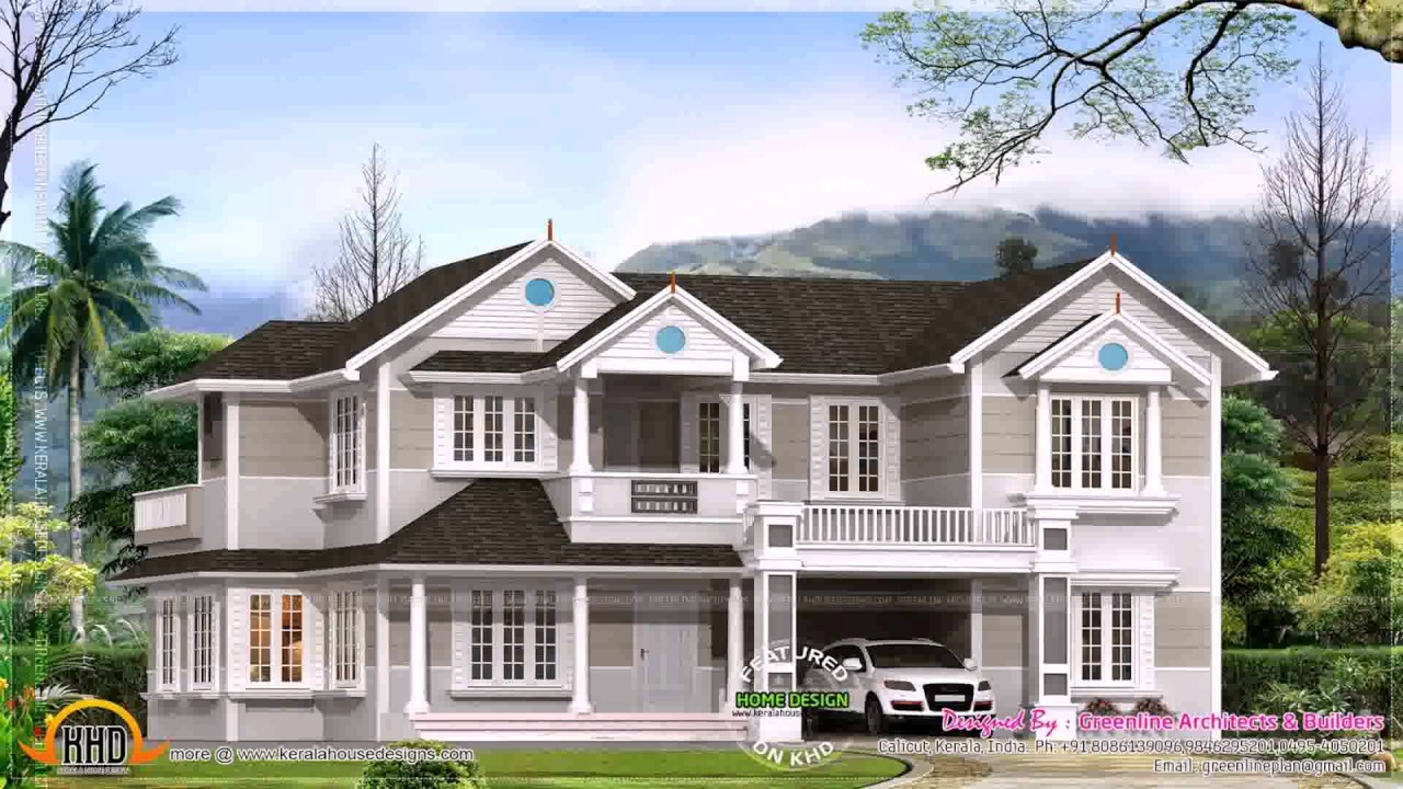 Colonial style house plans in kerala youtube for Colonial style home design in kerala