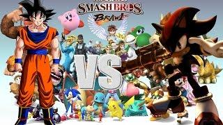 Super Smash Bros Brawl Mod   Shadow vs Goku