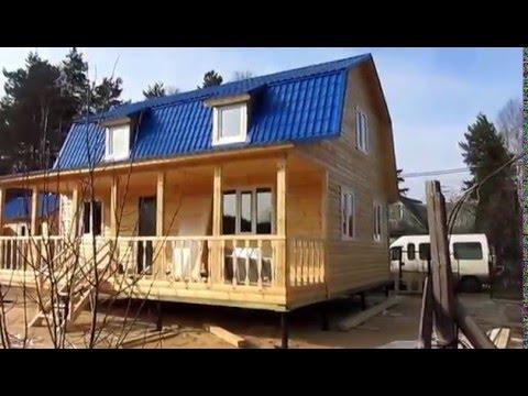 Каркасный дом 6x9+баня 6x4+дровянник 6x4