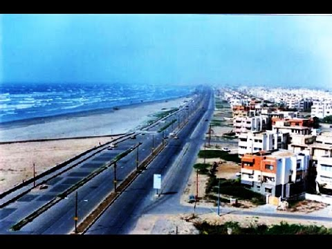 Driving along Sea View, DHA to Clifton, Karachi