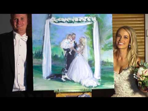 Shakey live art at the wedding of Michael and Lauren in Adelaide