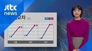 [날씨] '봄날씨' 전국 맑고 포근…미세먼지 '보통' / JTBC 아침&