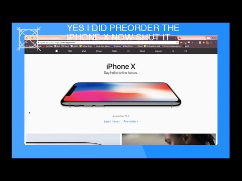 iPhone X preorder stream 10/27/17