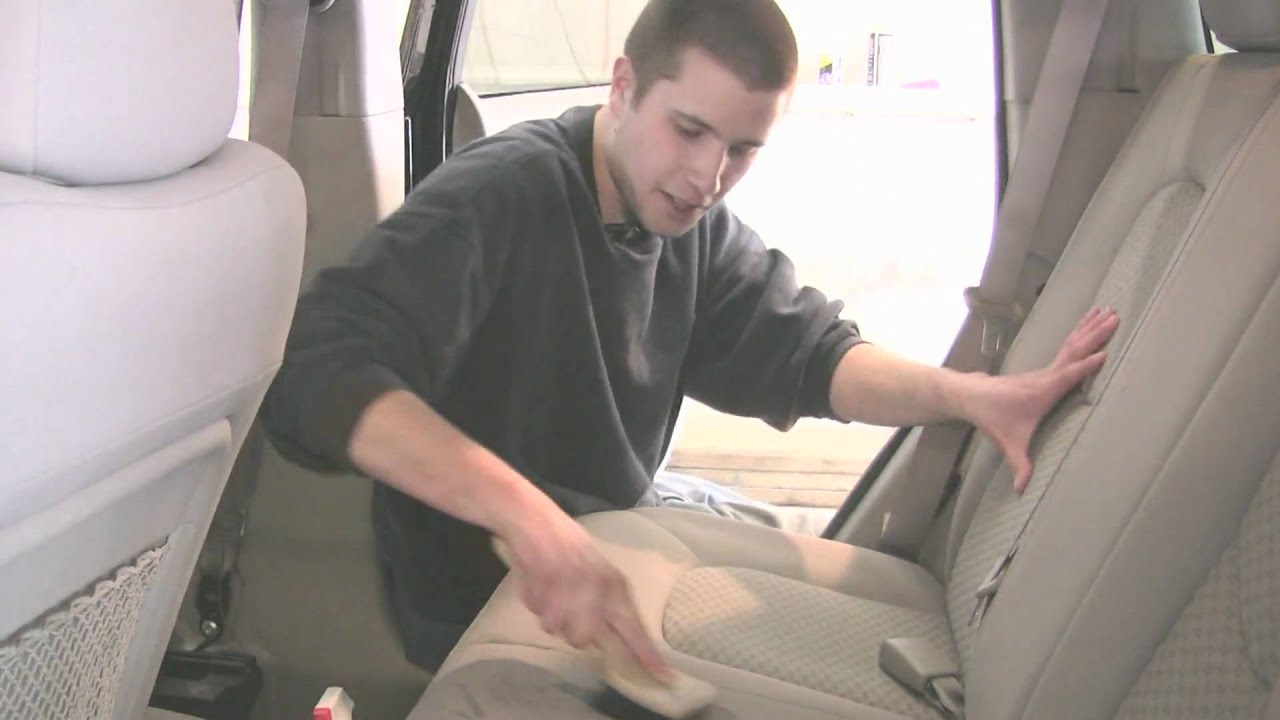 Auto Detailing How To Clean Upholstery In A Car With Home Remes You