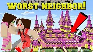 Minecraft: THE WORST NEIGHBOR EVER!! (HELLO JEN!) Custom Map