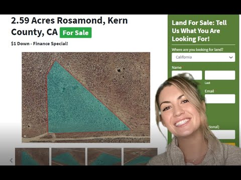 2.59 Acres Farm Property - Rosamond Land Properties For Sale In Kern County, California
