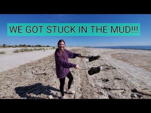 WE GOT STUCK IN THE MUD!!!~ Salton Sea