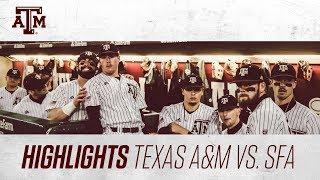 Baseball: Highlights   A&M 5, SFA 3